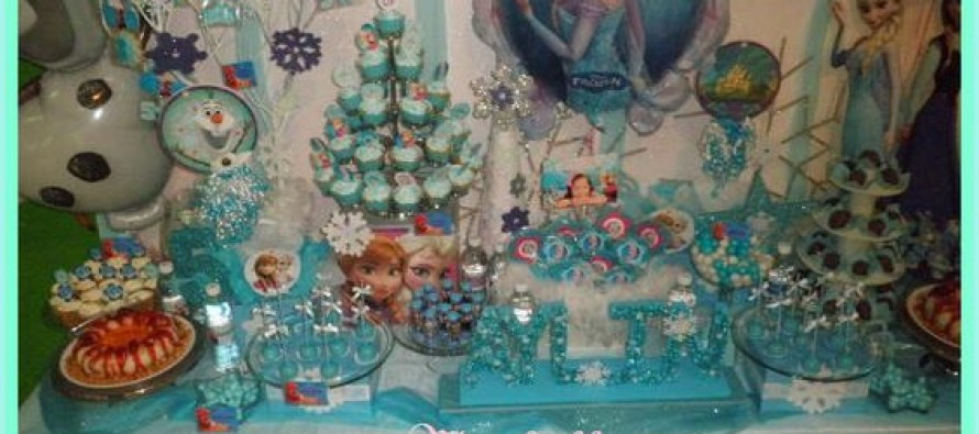 Decoracion de mesa de postres frozen