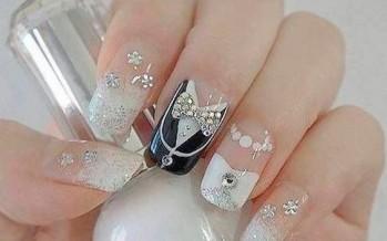 Decoracion de uñas para novia