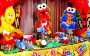 Decoracion fiesta de plaza sésamo