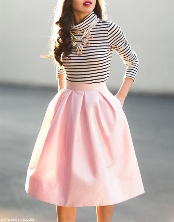 2361a026f midi skirt outfit-falda por debajo de la rodilla (13) - Curso de ...
