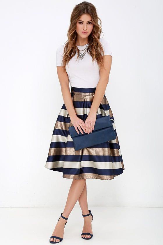 5e11eeab4 midi skirt outfit-falda por debajo de la rodilla (8) - Curso de ...