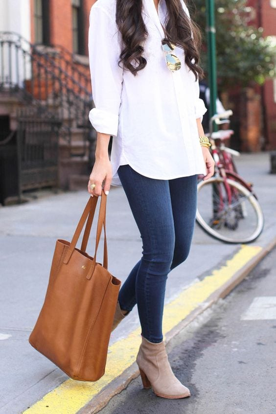 Outfit de jeans con blusa blanca (14) - Curso de Organizacion del hogar