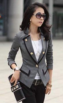 12eeb7811e386 tendencias outfit con blazer para mujer (32) - Curso de Organizacion ...