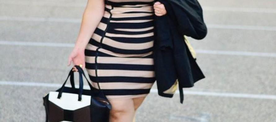 Trendy plus size woman