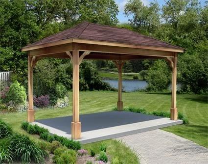 Dise os de palapas para decorar jardines 27 curso de for Kiosco de madera para jardin