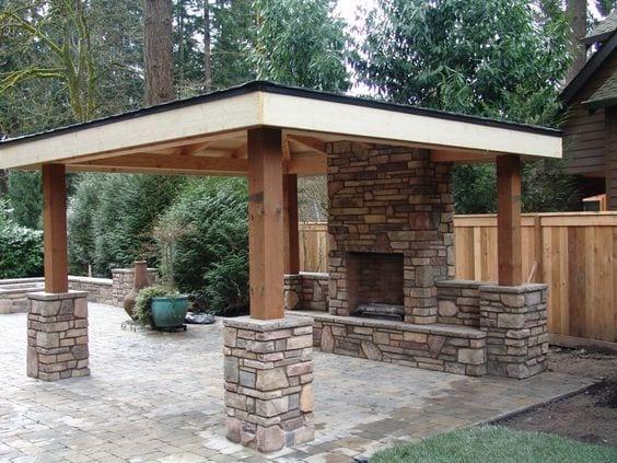 Dise os de palapas para decorar jardines fotos ideas imagenes - Outdoor gazebo plans with fireplace ...