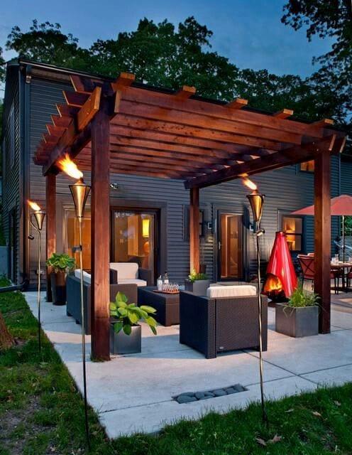 Dise os de palapas para decorar jardines 8 curso de organizacion del hogar y decoracion de - Farolas de jardin modernas ...