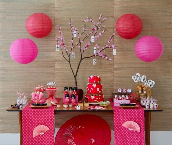 Decoracion japonesa para fiestas for Decoracion del hogar en pinterest