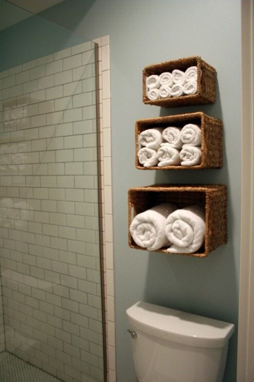 Ideas Organizar Baño:Bathroom Towel Storage