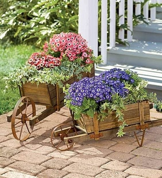 Maceteros y floreros para jardin curso de organizacion for Ideas para jardines rusticos
