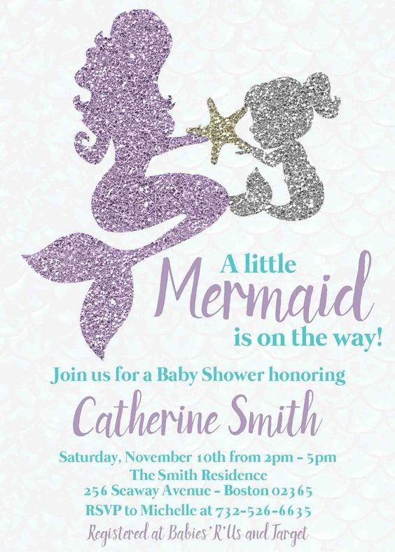 Baby shower de sirena
