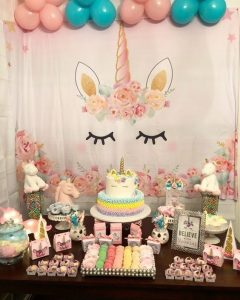 Baby shower de unicornio