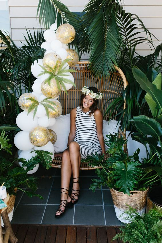 Baby shower tropical
