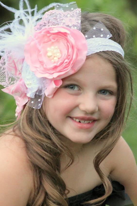 Ballerinas y diademas para ninas 18 curso de - Diademas para bebes bautizo ...