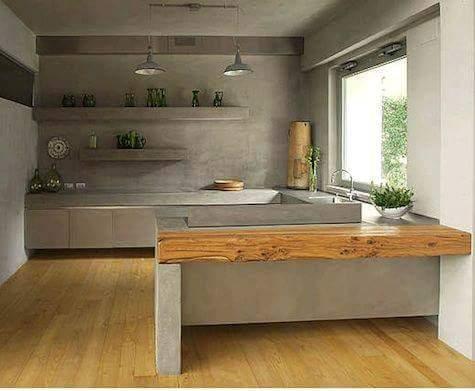 Cocinas de concreto 15 curso de organizacion del hogar for Cocinas de concreto pequenas