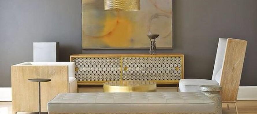 Decoracion de interiores en color dorado