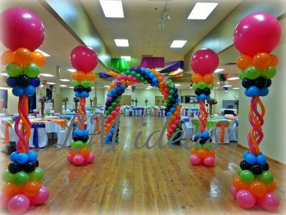 Decoracion fiestas con globos ideas para decorar con for Globos decoracion fiestas