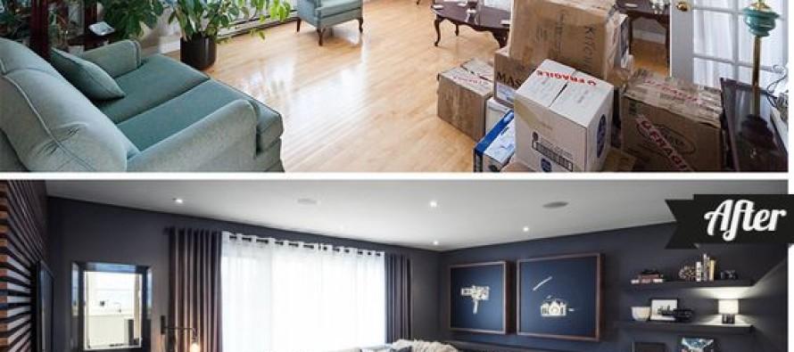 Decoración de interiores antes y después