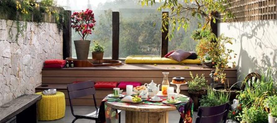 Decoración de terrazas con plantas