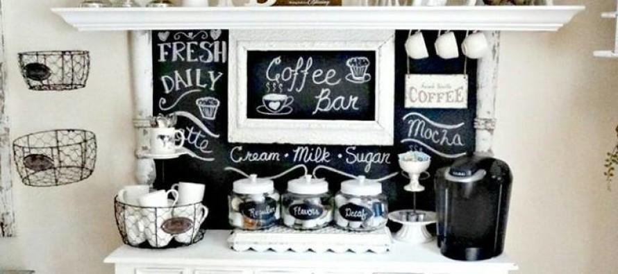 Diy coffee bar station