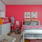 Idea de decoracion remara de mujer en grises y rosa