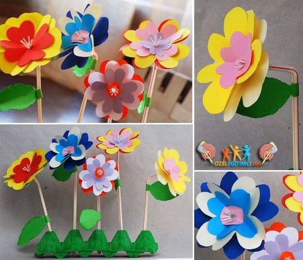 Ideas para decorar con flores de papel 12 curso de for Como decorar paredes con papel