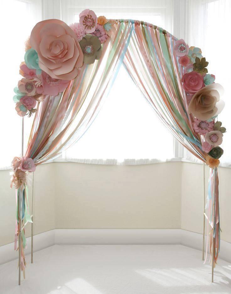 Ideas para decorar con flores de papel 25 curso de for Decorar pared con papel