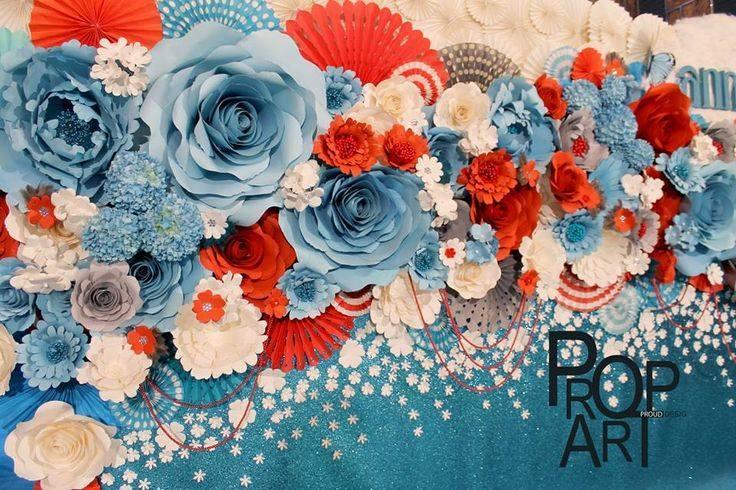 Ideas para decorar con flores de papel 4 curso de - Decorar pared con papel ...