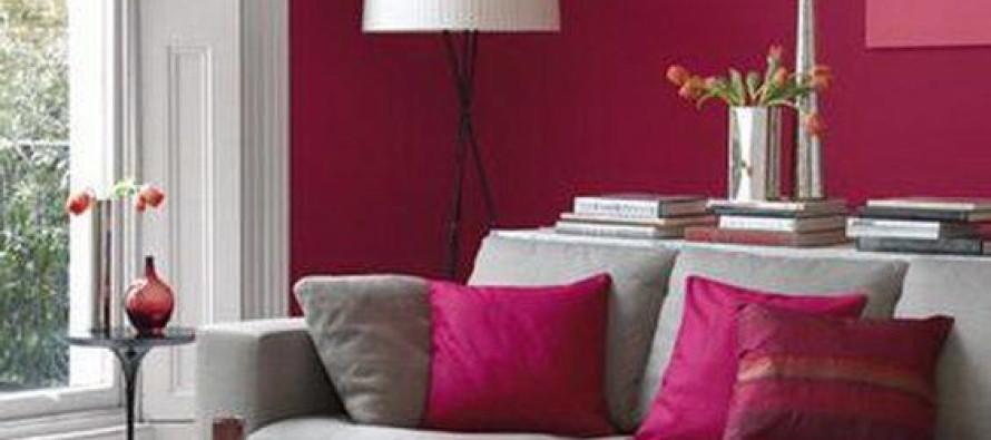 Ideas para decorar tu sala en fucsia