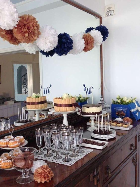 Decoracion mesa cumplea os adulto hombre - Ideas para celebrar un 50 cumpleanos ...