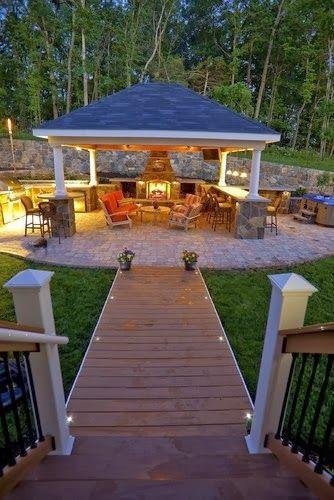 Dise os de palapas para decorar jardines fotos ideas imagenes - Iluminacion para patios y jardines ...