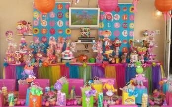 Mesa de postres para piñata de lalaloopsy