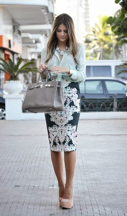 d1cce09314cc Outfit de falda tipo Lapiz Pencil Skirt - Curso de Organizacion del ...