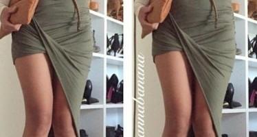 Outfits con falda asimetricas