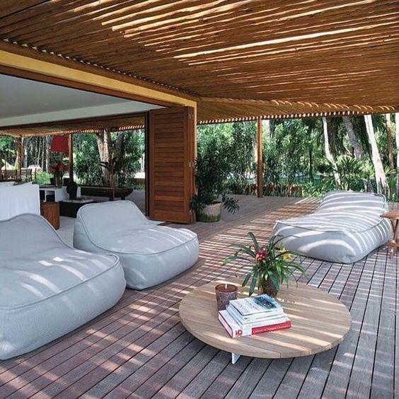 salas de estar en pergolas