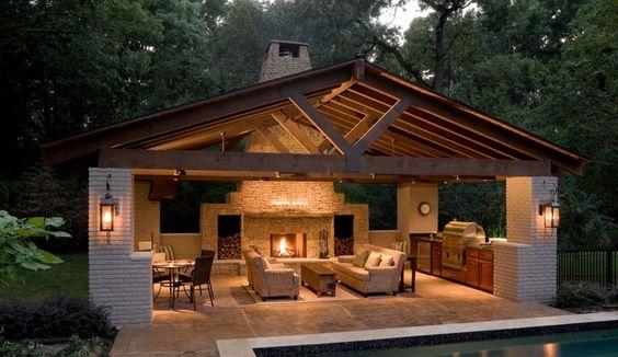 Pergolas de madera y concreto
