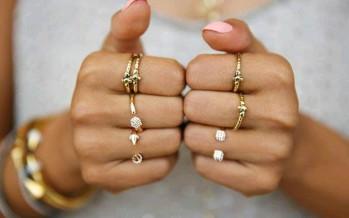 Bisuteria de moda rose gold