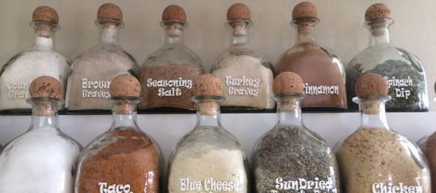 DIY reciclando botellas de alcohol