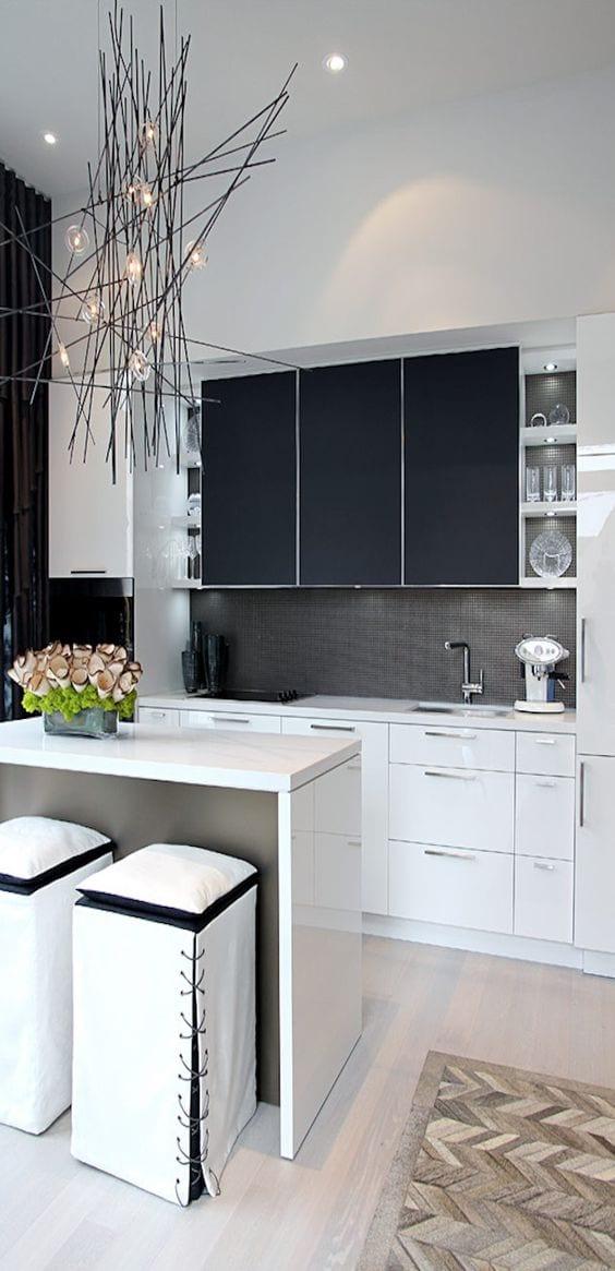 Decoracion de cocinas en blanco y negro 2 curso de - Cocinas en blanco y negro ...