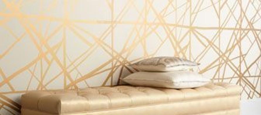 Decoracion de interiores blanco con dorado