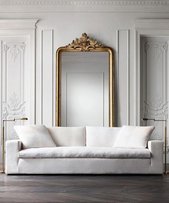 Decoracion de interiores blanco con dorado - Curso de Organizacion ...