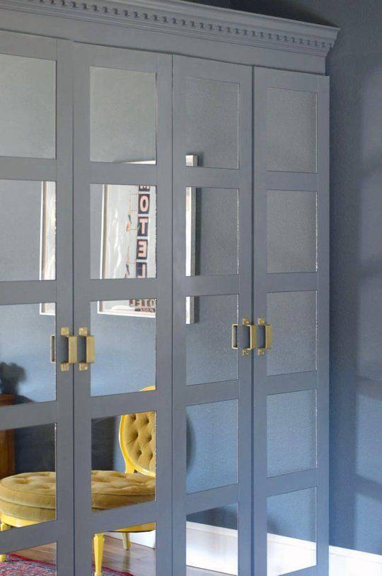 Closet con espejos para ideas para decorar tu hogar en for Closets finos madera
