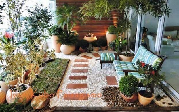Ideas para jardines peque os con piedra curso de for Cerramientos patios interiores