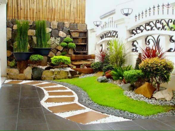 Ideas para jardines peque os con piedra 27 curso de organizacion del hogar y decoracion de - Iluminacion jardines pequenos ...