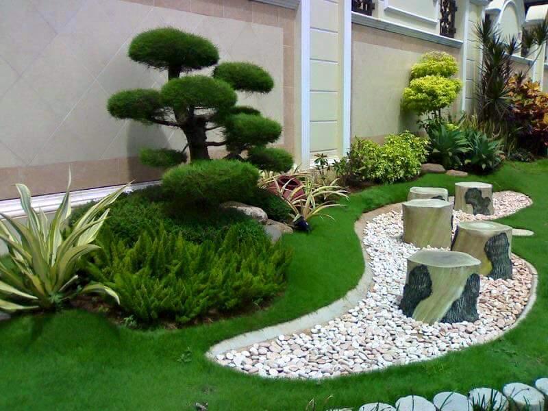 Ideas para jardines peque os con piedra 30 curso de - Jardines pequenos con piedras ...