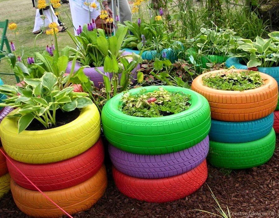 Ideas para reciclar llantas 21 curso de organizacion for Decoracion del hogar reciclaje