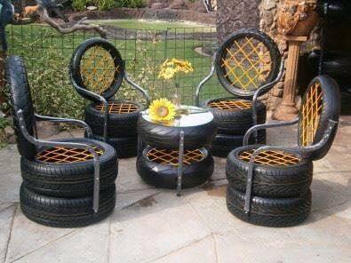 Ideas para reciclar llantas curso de organizacion del - Ideas para reciclar muebles ...