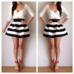 Outfits con Top Crop y Falda