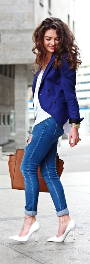 Outfits con color azul rey (19) - Curso de Organizacion del hogar