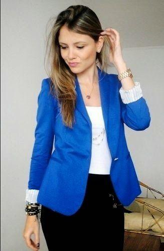 Outfits con color azul rey (22) - Curso de Organizacion del hogar